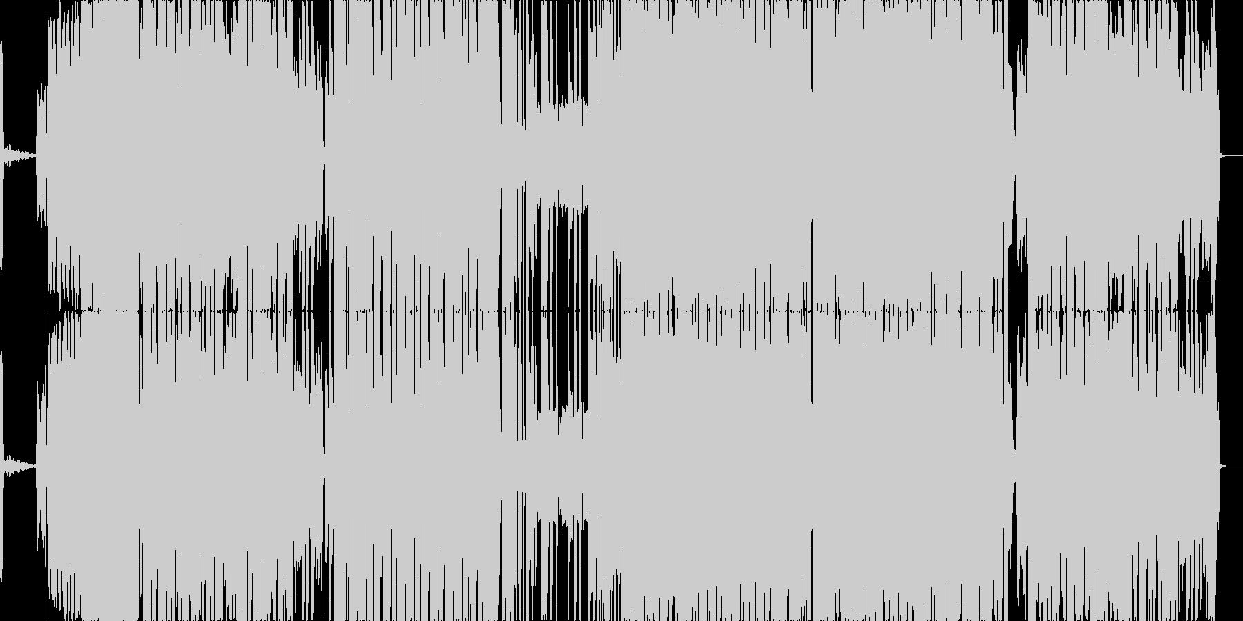 かっこいいポップスBGMの未再生の波形