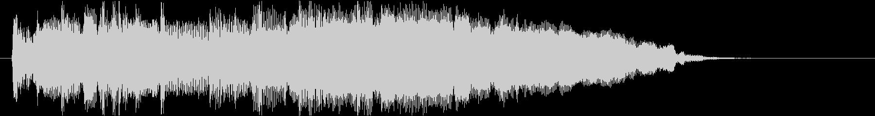 ラジオのおしゃれなオープニング風ジングルの未再生の波形