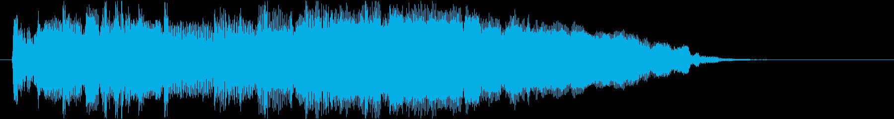 ラジオのおしゃれなオープニング風ジングルの再生済みの波形