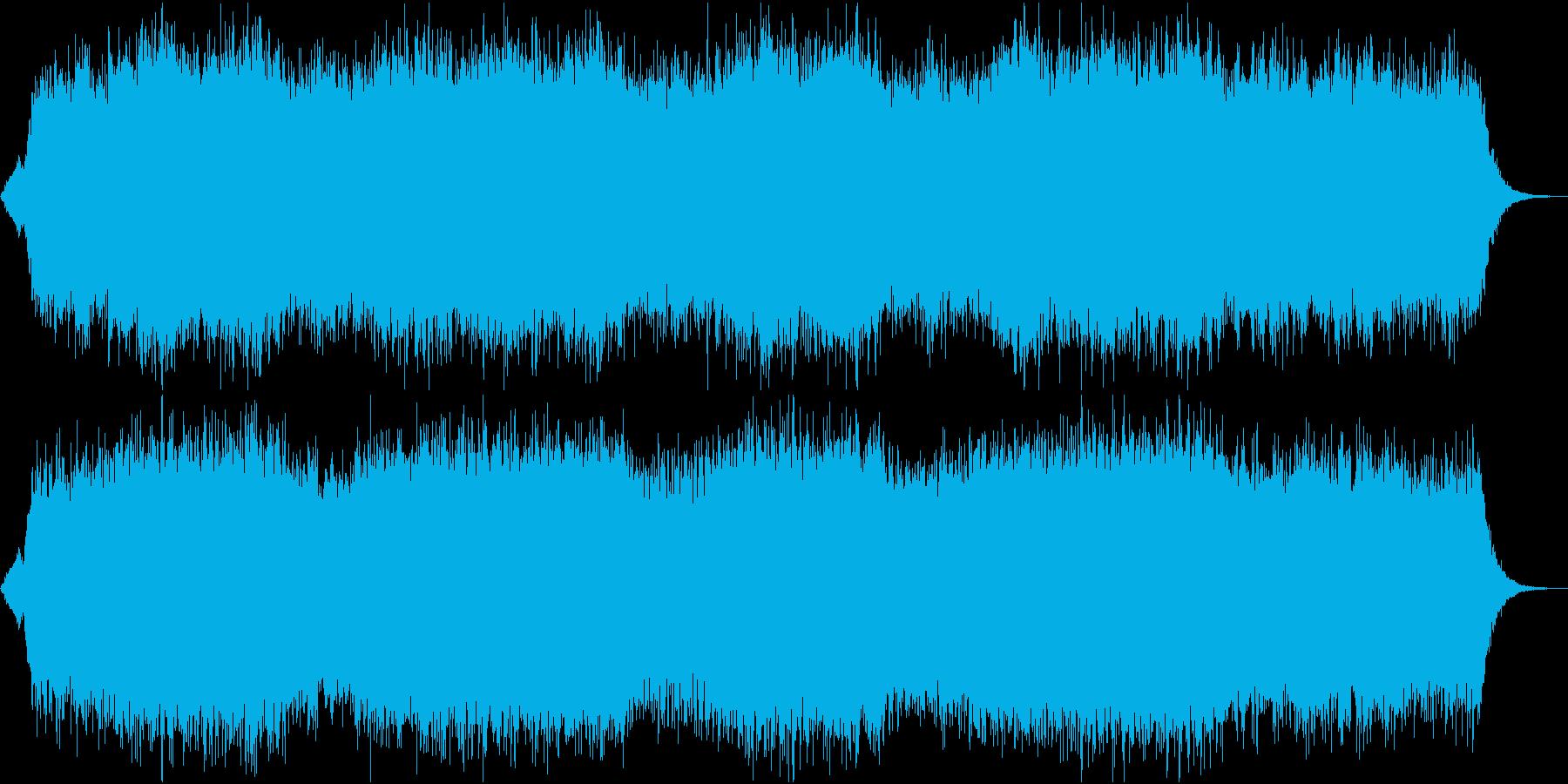 夜の海に合うヒーリングBGMの再生済みの波形