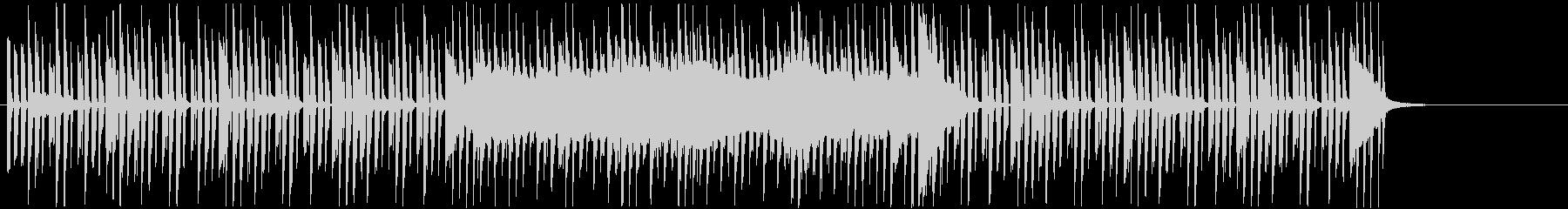 軽快なリズムマシンとシンセサイザーの一曲の未再生の波形