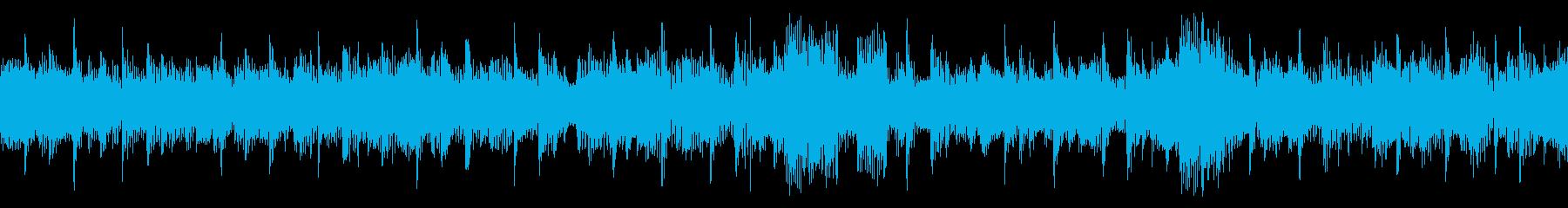 クールな4つ打ちエレクトロニカの再生済みの波形