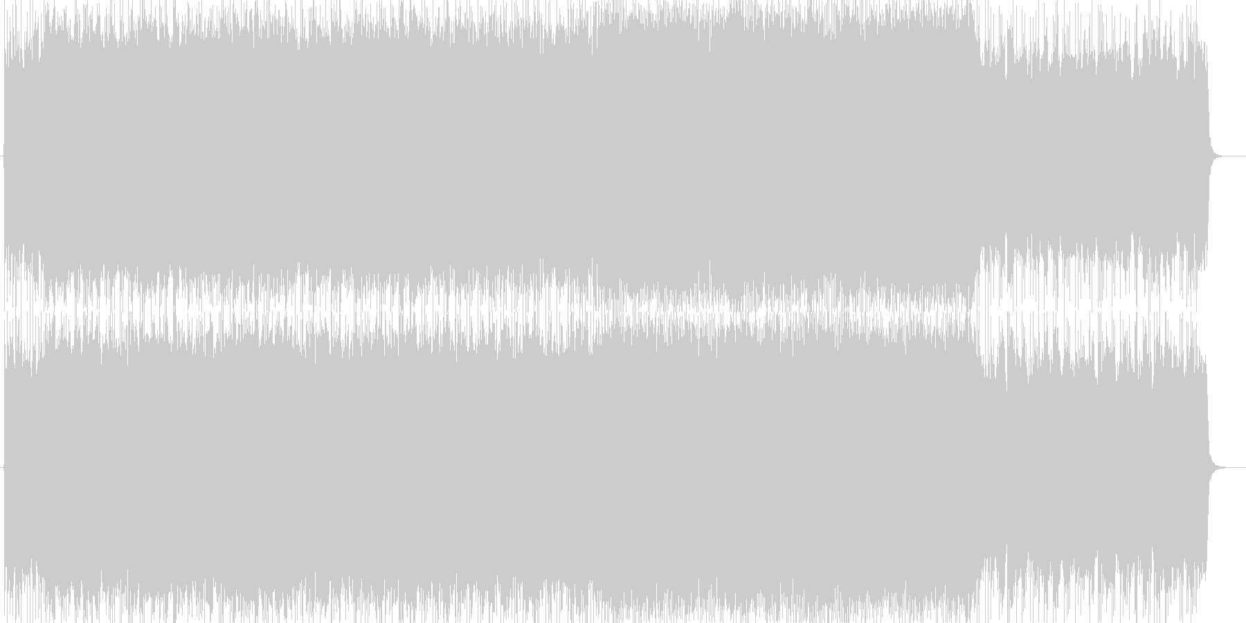 重厚感・スピード感のある激しいロックの未再生の波形