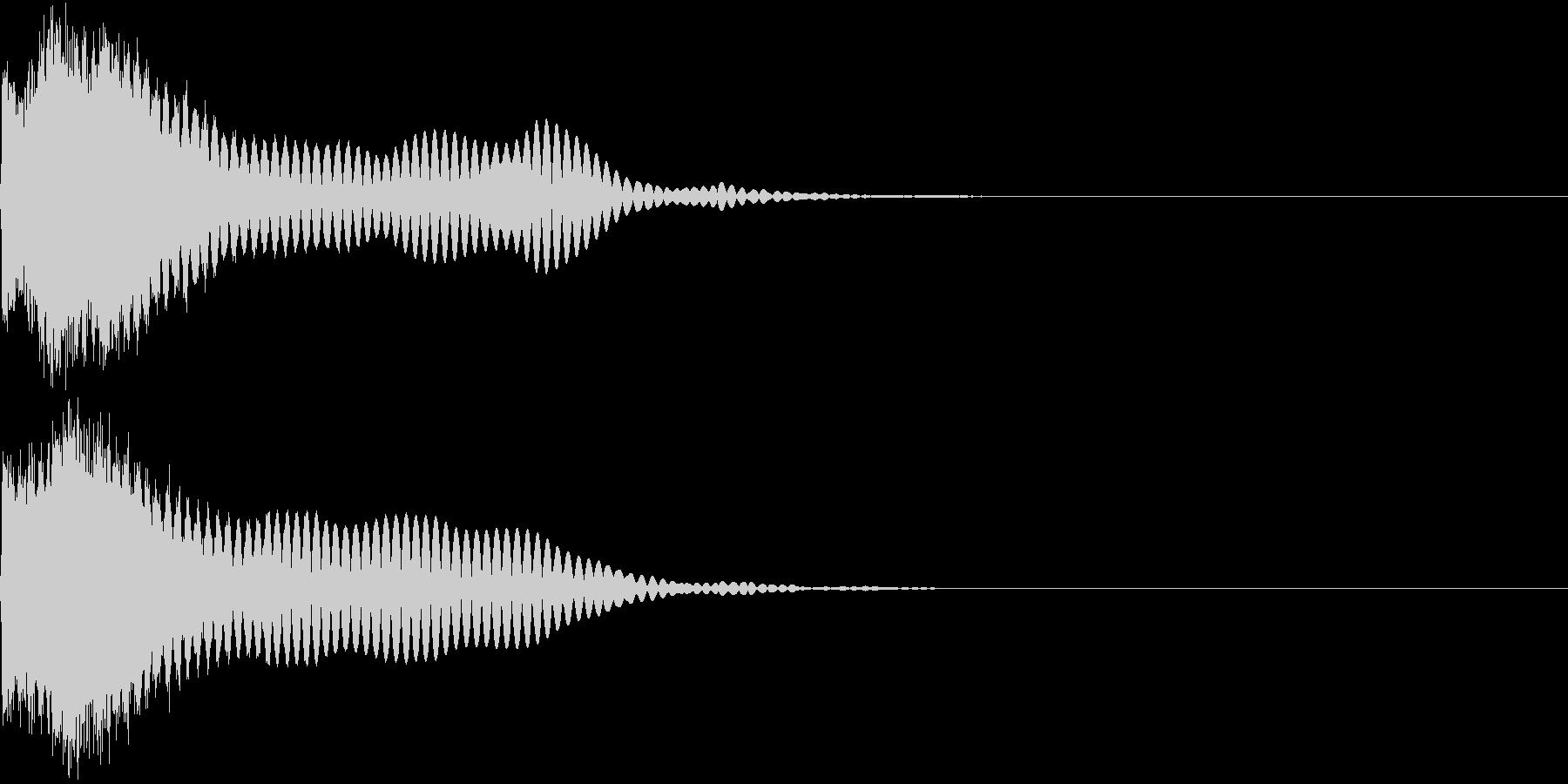 刀 キーン 剣 リアル インパクト Lの未再生の波形