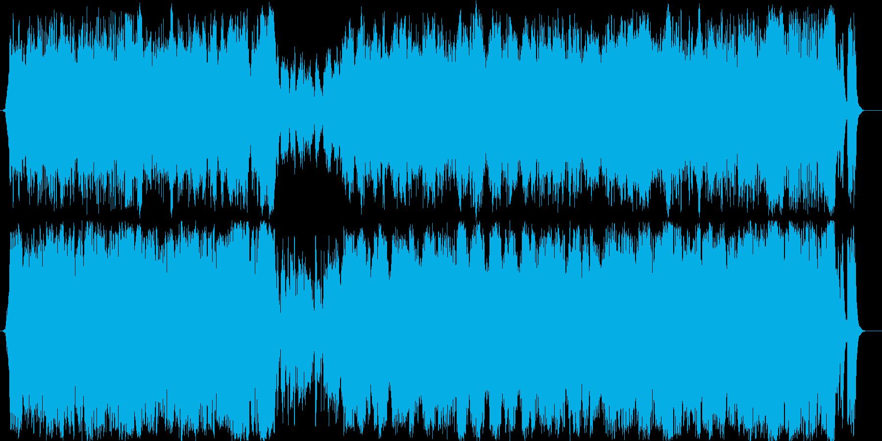 戦闘系 壮大なオーケストラサウンドの再生済みの波形