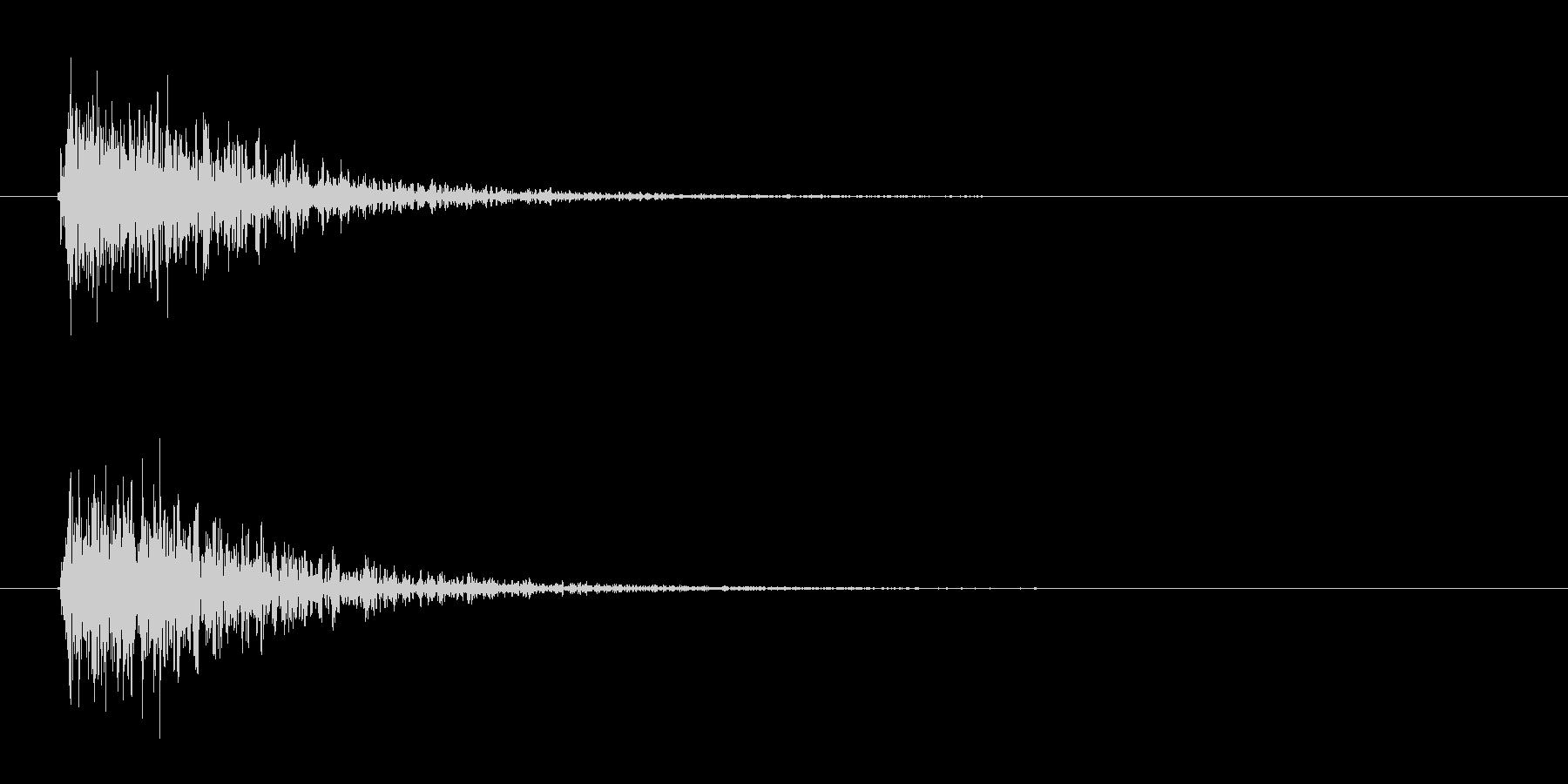 ドーン-1(ヒット音 インパクト音)の未再生の波形