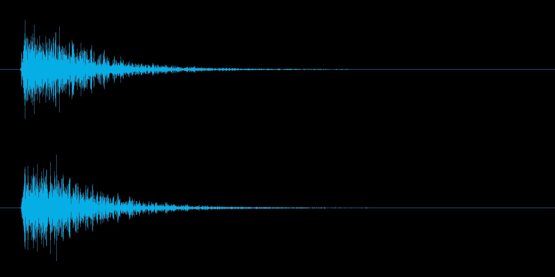 ドーン-1(ヒット音 インパクト音)の再生済みの波形