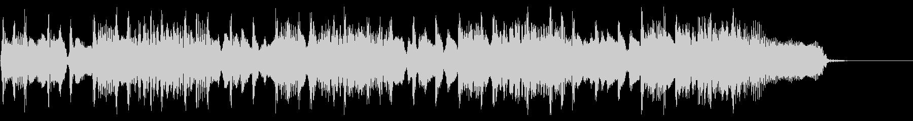 オープニング感あるロックジングルの未再生の波形