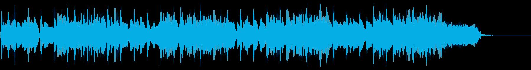 オープニング感あるロックジングルの再生済みの波形