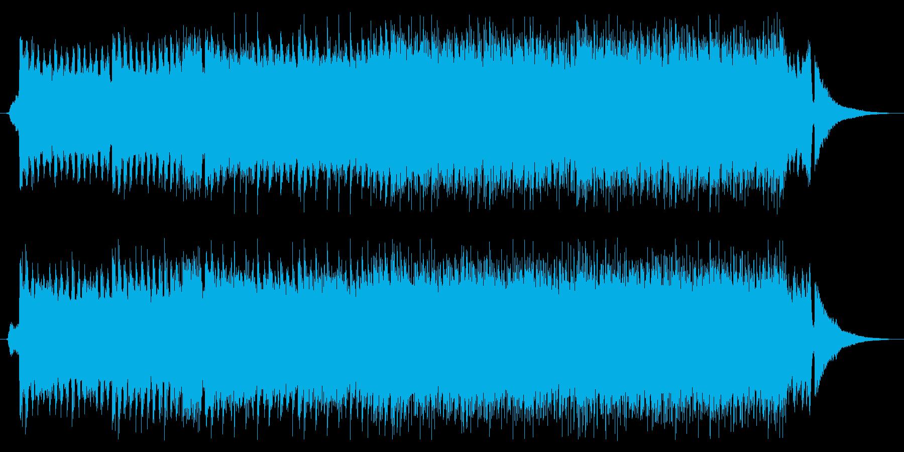 軽快でリズミカルな映像向けポップサウンドの再生済みの波形