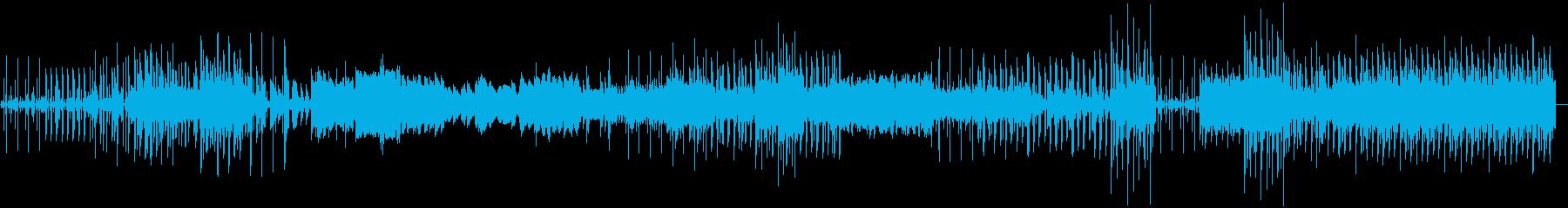 リズムの良いメロディアスな感じのインストの再生済みの波形