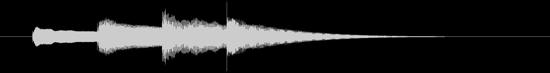 学校や施設などの館内放送開始ベルの未再生の波形
