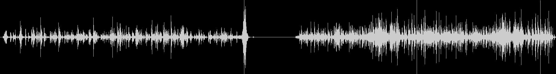 チェーンラトル、2つのバージョン;...の未再生の波形