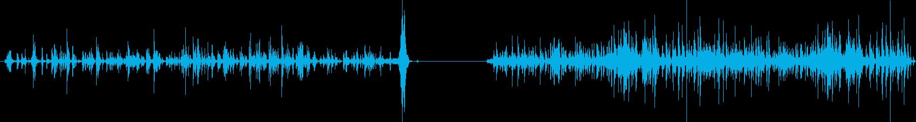 チェーンラトル、2つのバージョン;...の再生済みの波形