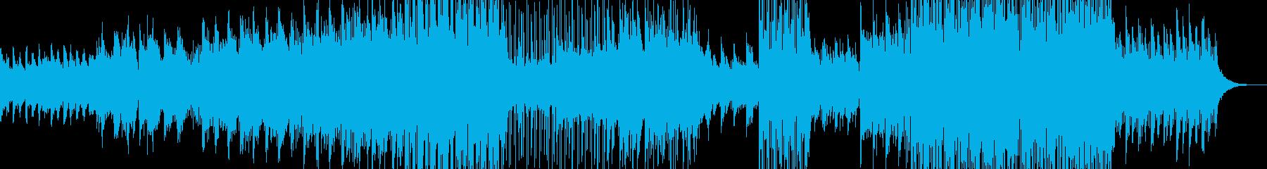 幻想的な夜明けをイメージ・後半ポップスの再生済みの波形