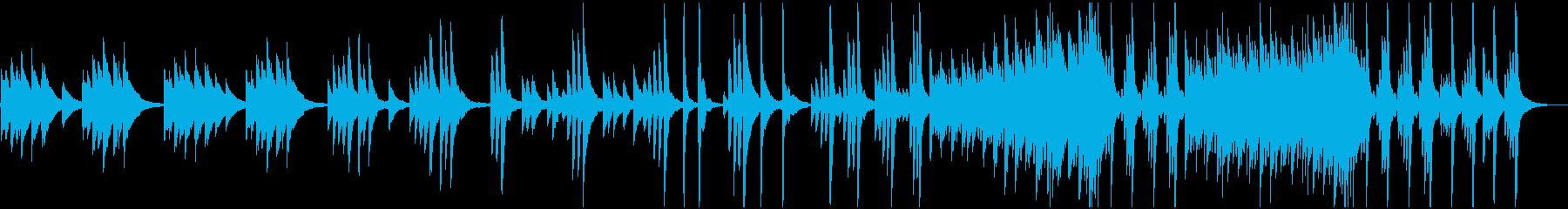 ノスタルジックなピアノのBGMの再生済みの波形