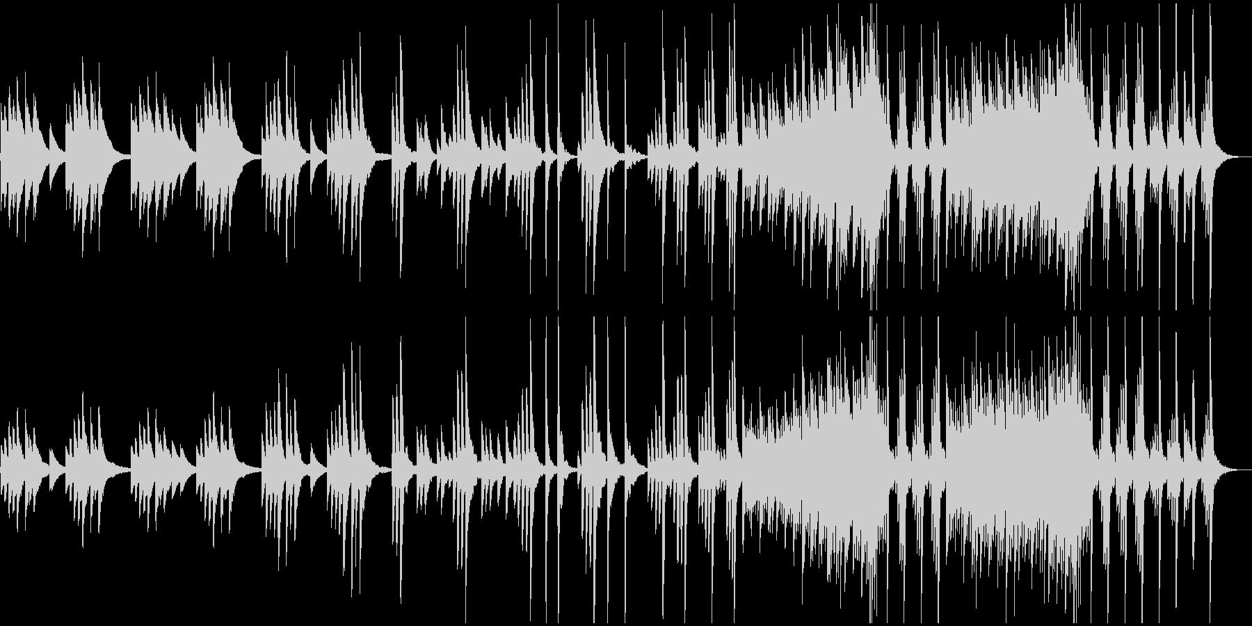ノスタルジックなピアノのBGMの未再生の波形