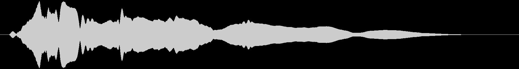 うねる風 オノマトペ(下降)ヒヨヒヨ…の未再生の波形