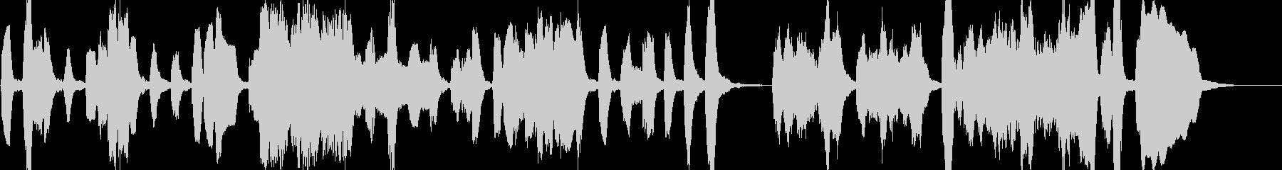 低音デュオの音楽の未再生の波形