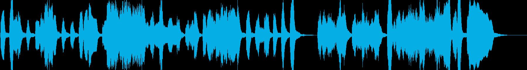 低音デュオの音楽の再生済みの波形
