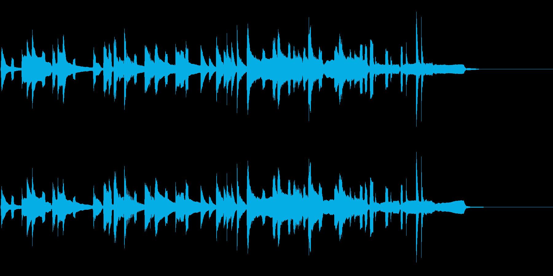 ちょっとアホな犬をイメージしたほのぼの曲の再生済みの波形