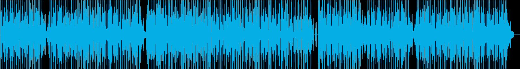 明るく軽快なBGMの再生済みの波形