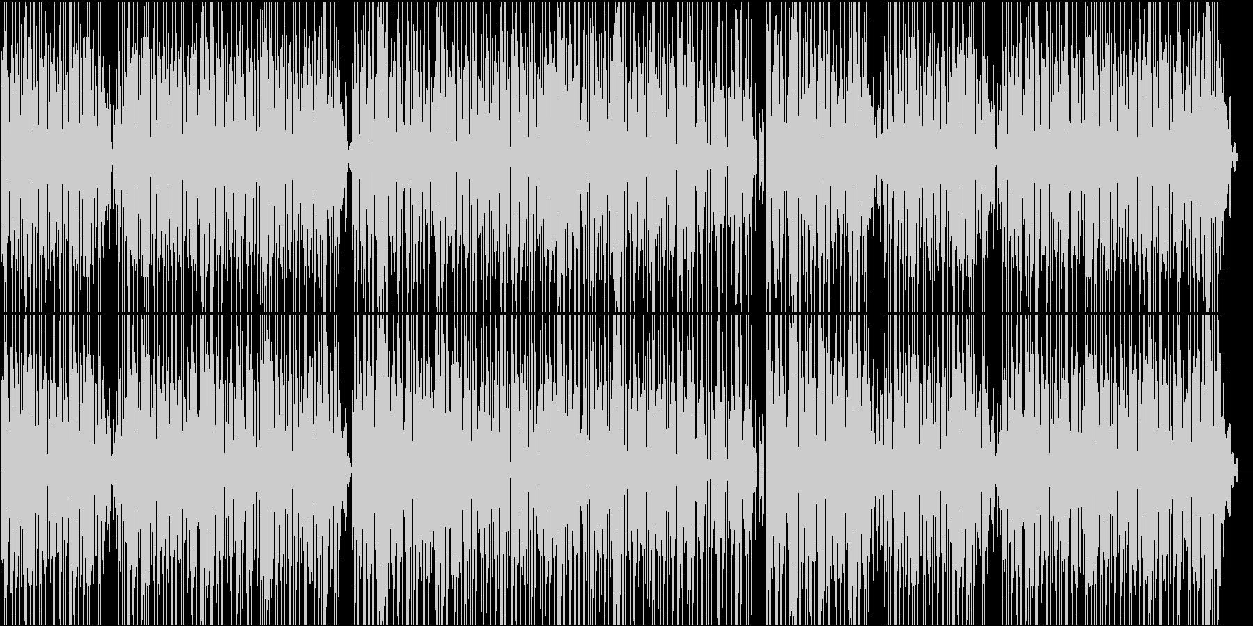 明るく軽快なBGMの未再生の波形