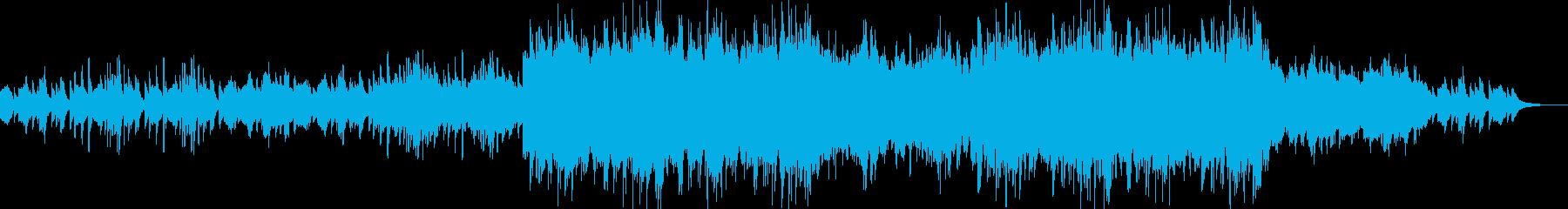 ピアノとストリングスによるバラードBGMの再生済みの波形