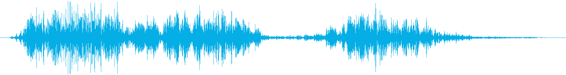 大型犬が吠える(ワンワンワン)の再生済みの波形