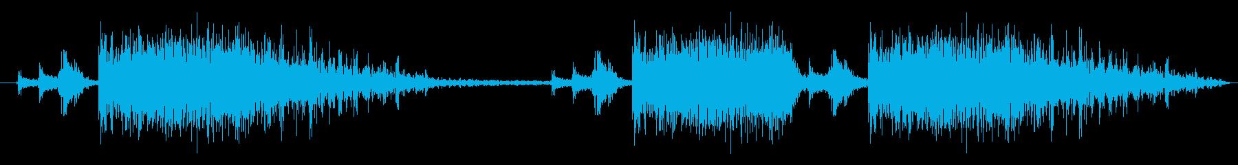 銃撃音の再生済みの波形