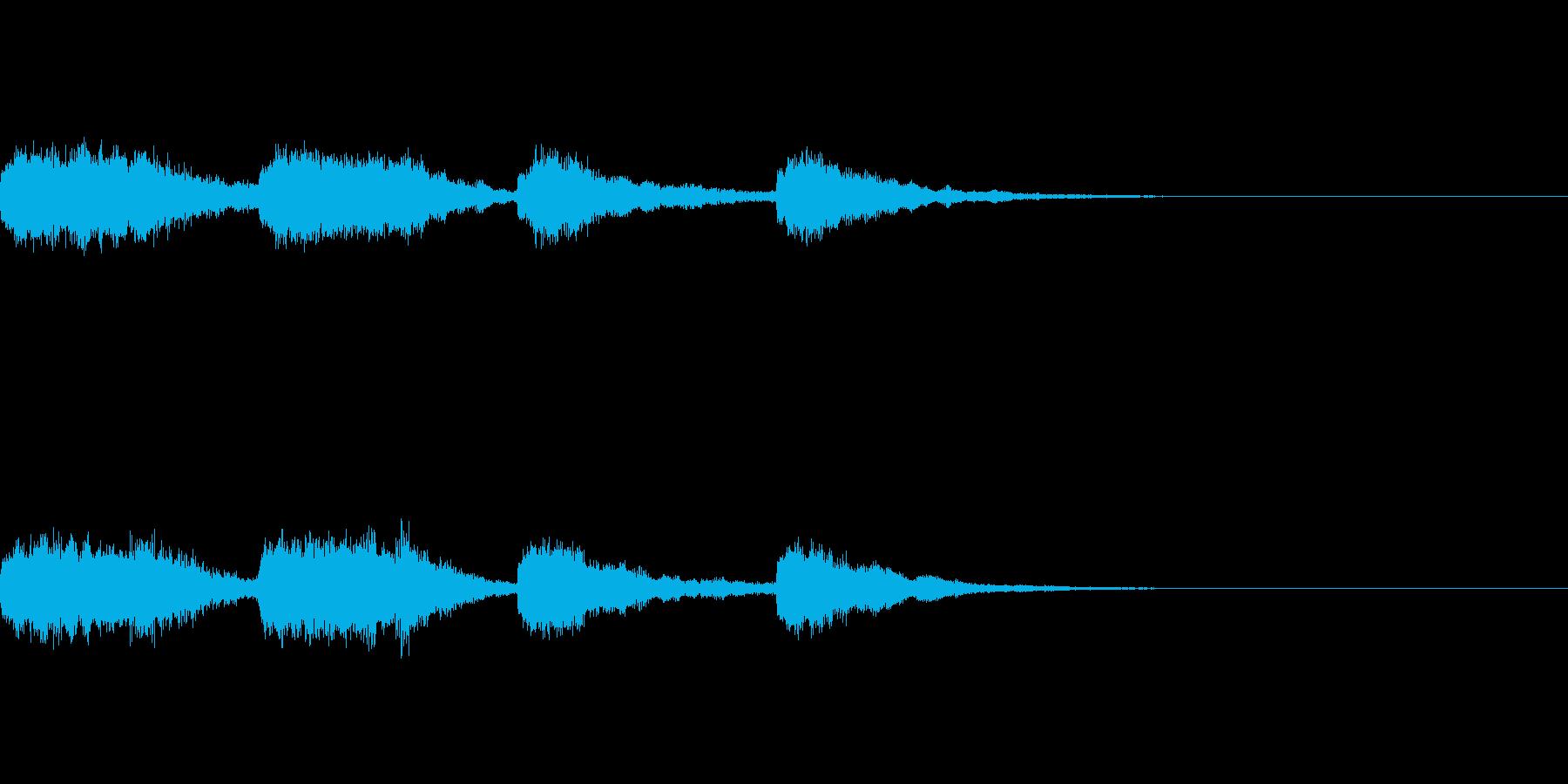 不気味なチャイムジングルの再生済みの波形