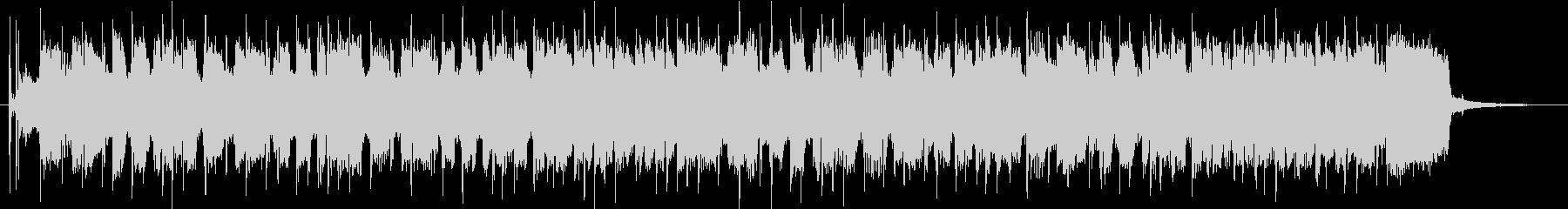 パンクロックな雰囲気のBGMの未再生の波形
