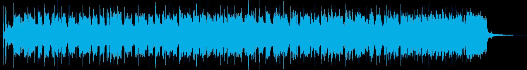 パンクロックな雰囲気のBGMの再生済みの波形