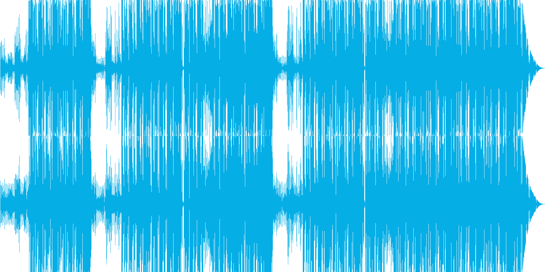 Trap 宇宙っぽいウワモノが印象的の再生済みの波形