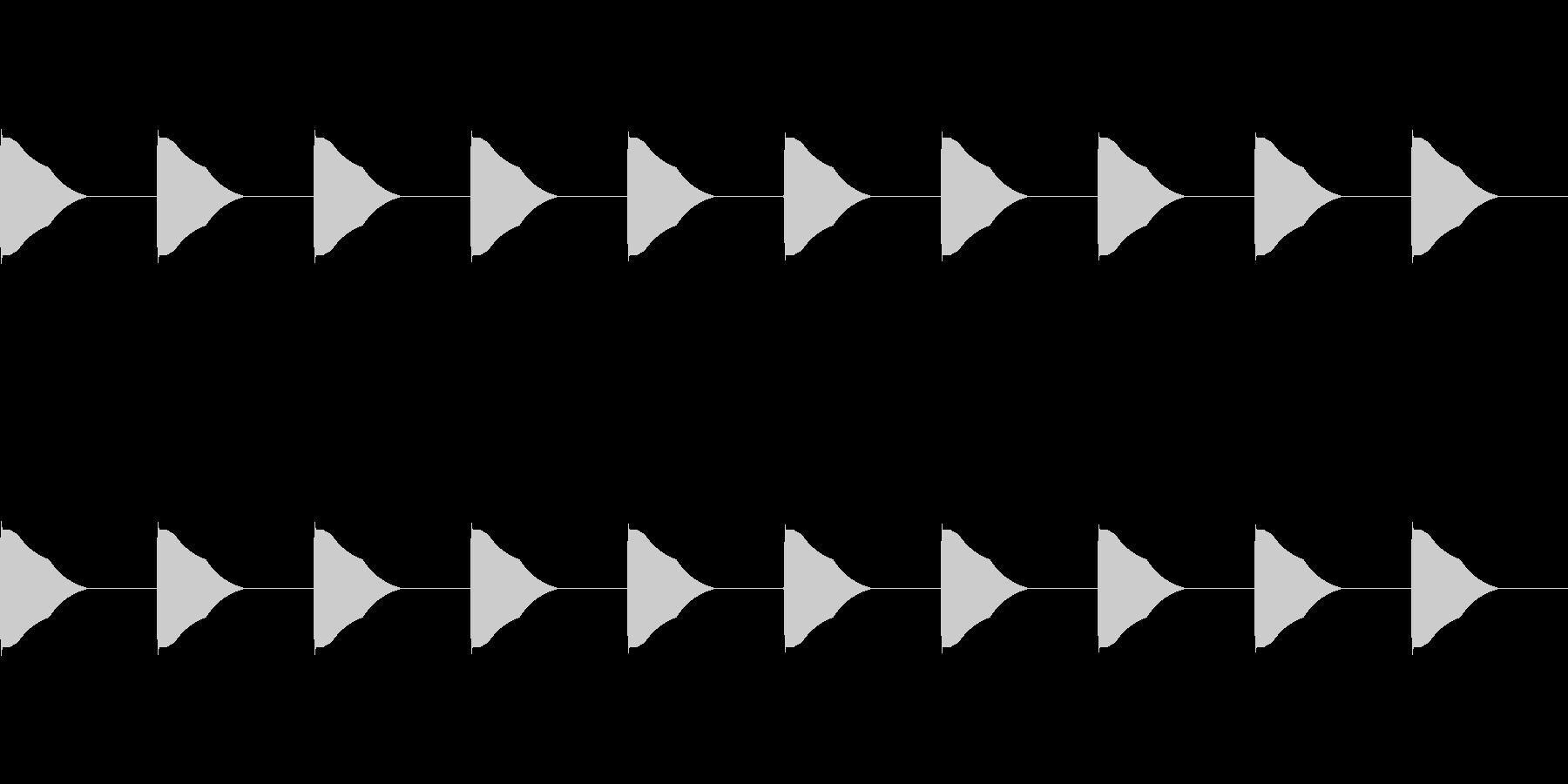 カウントダウン 10秒ループ ポーンの未再生の波形