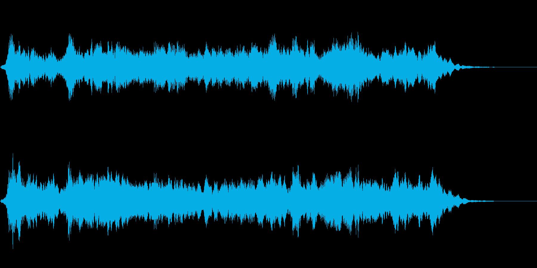 ホラー・サスペンス系軋み効果音1の再生済みの波形