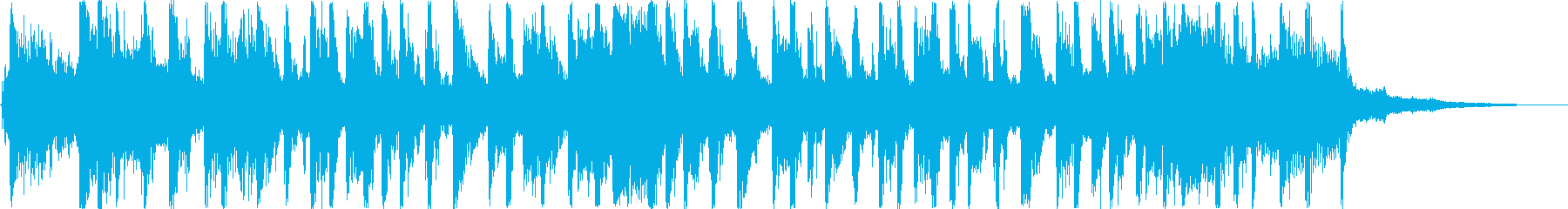 20秒程の暗い感じのテクノループの再生済みの波形