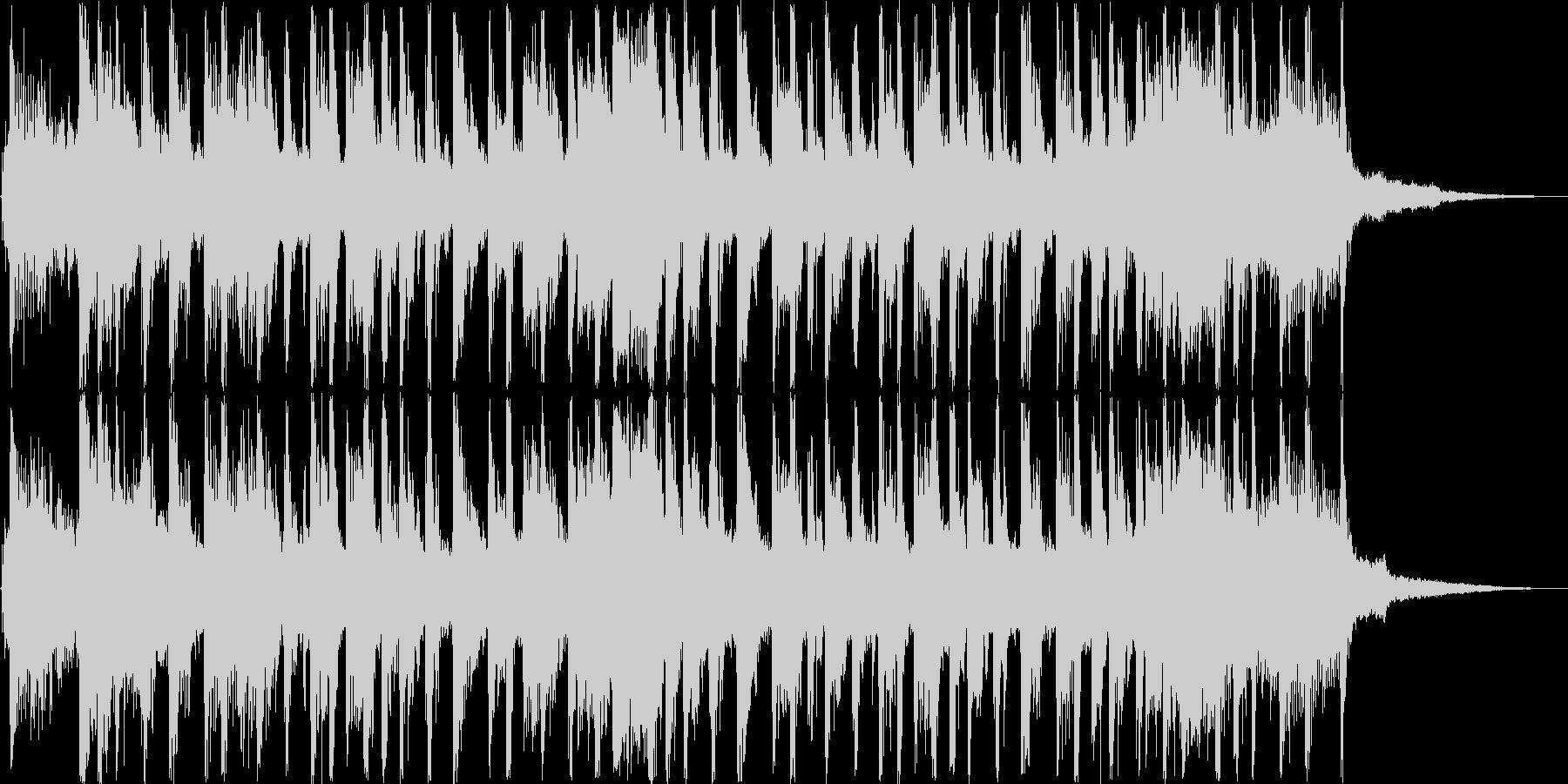 20秒程の暗い感じのテクノループの未再生の波形