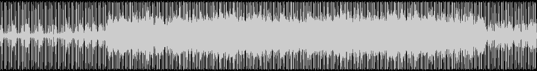 伝統的な和風テイストの曲の未再生の波形