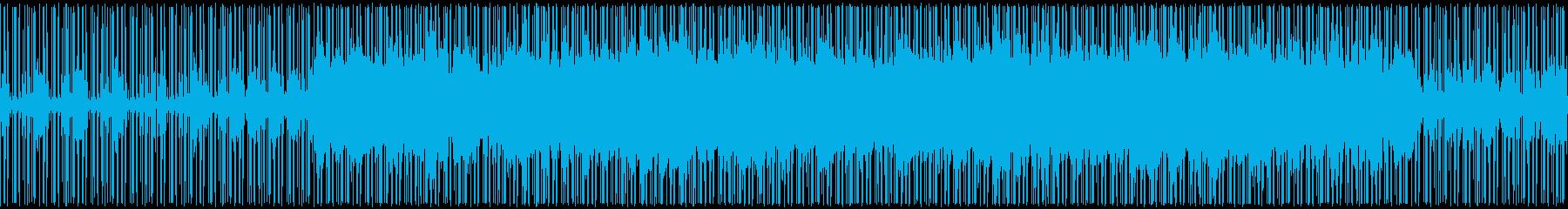 伝統的な和風テイストの曲の再生済みの波形