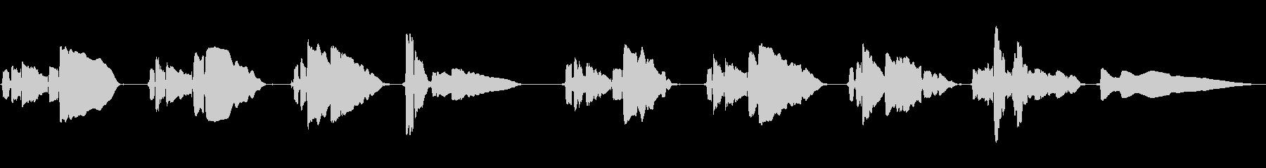 サックス1本の曲です。の未再生の波形