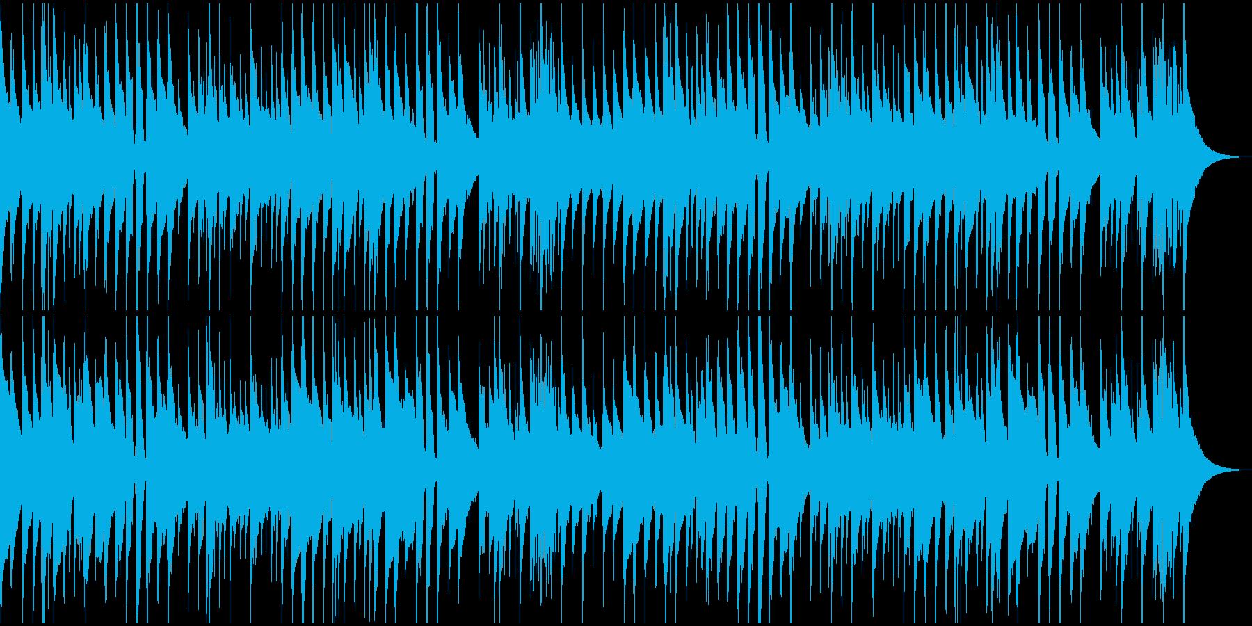 アコギのゆったりしたBGMの再生済みの波形