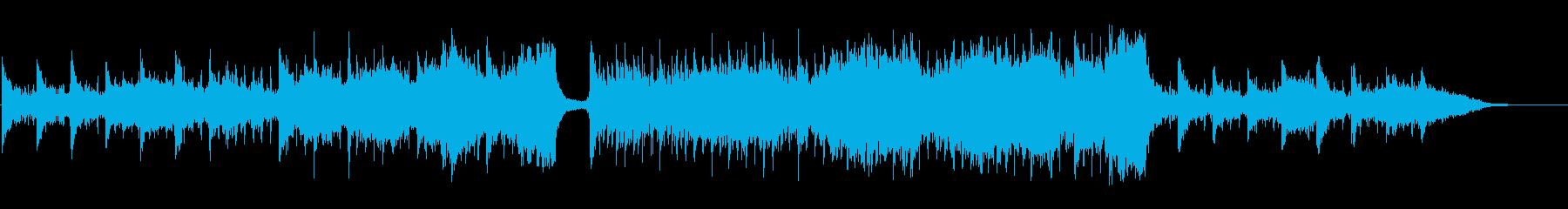 感動の場面に使えるBGMの再生済みの波形