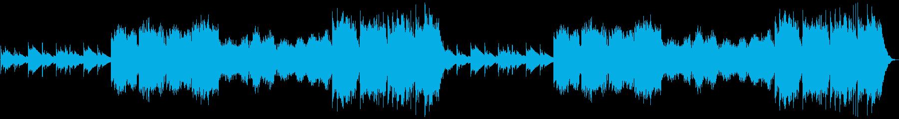 ぽかぽか、ほのぼのとしたBGMの再生済みの波形