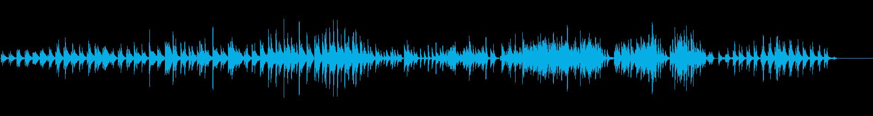 生ピアノ・10月の曇り空(ソフトピアノ)の再生済みの波形