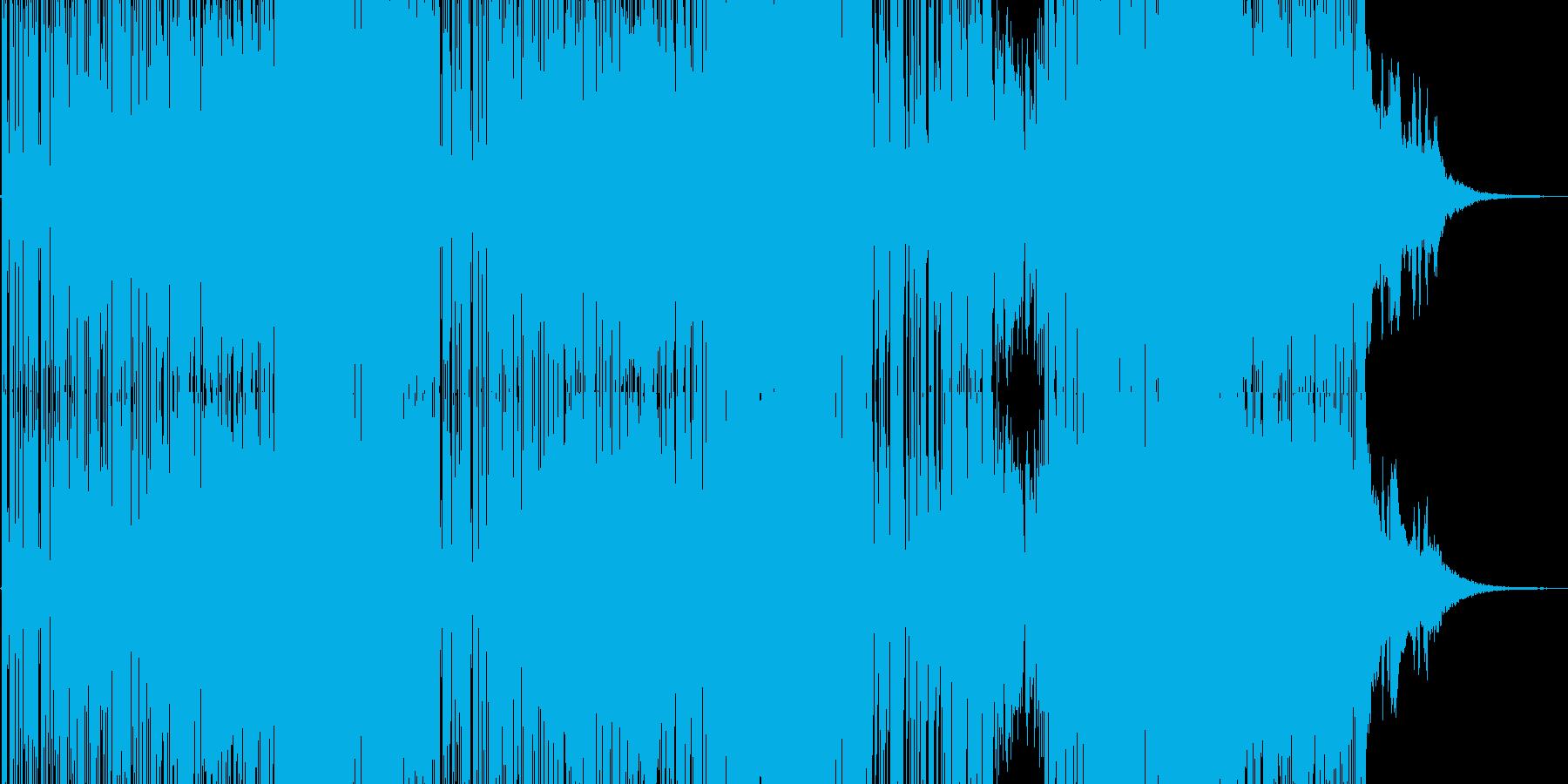 明るいストレートなポップスの再生済みの波形