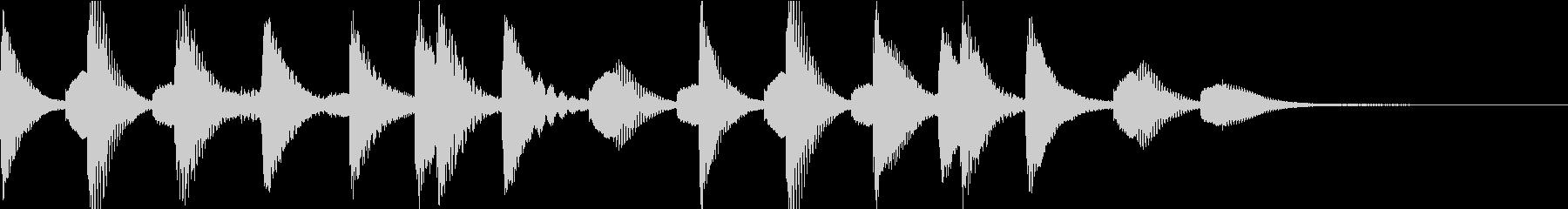 ほのぼの明るいマリンバのジングルの未再生の波形