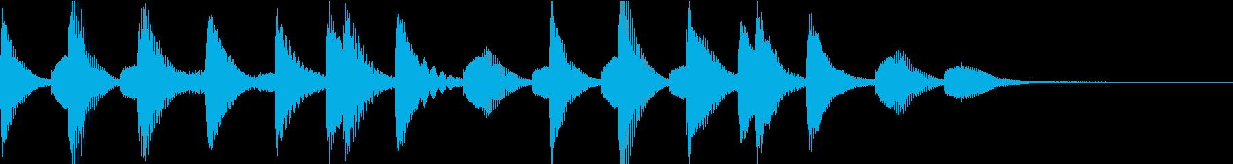 ほのぼの明るいマリンバのジングルの再生済みの波形