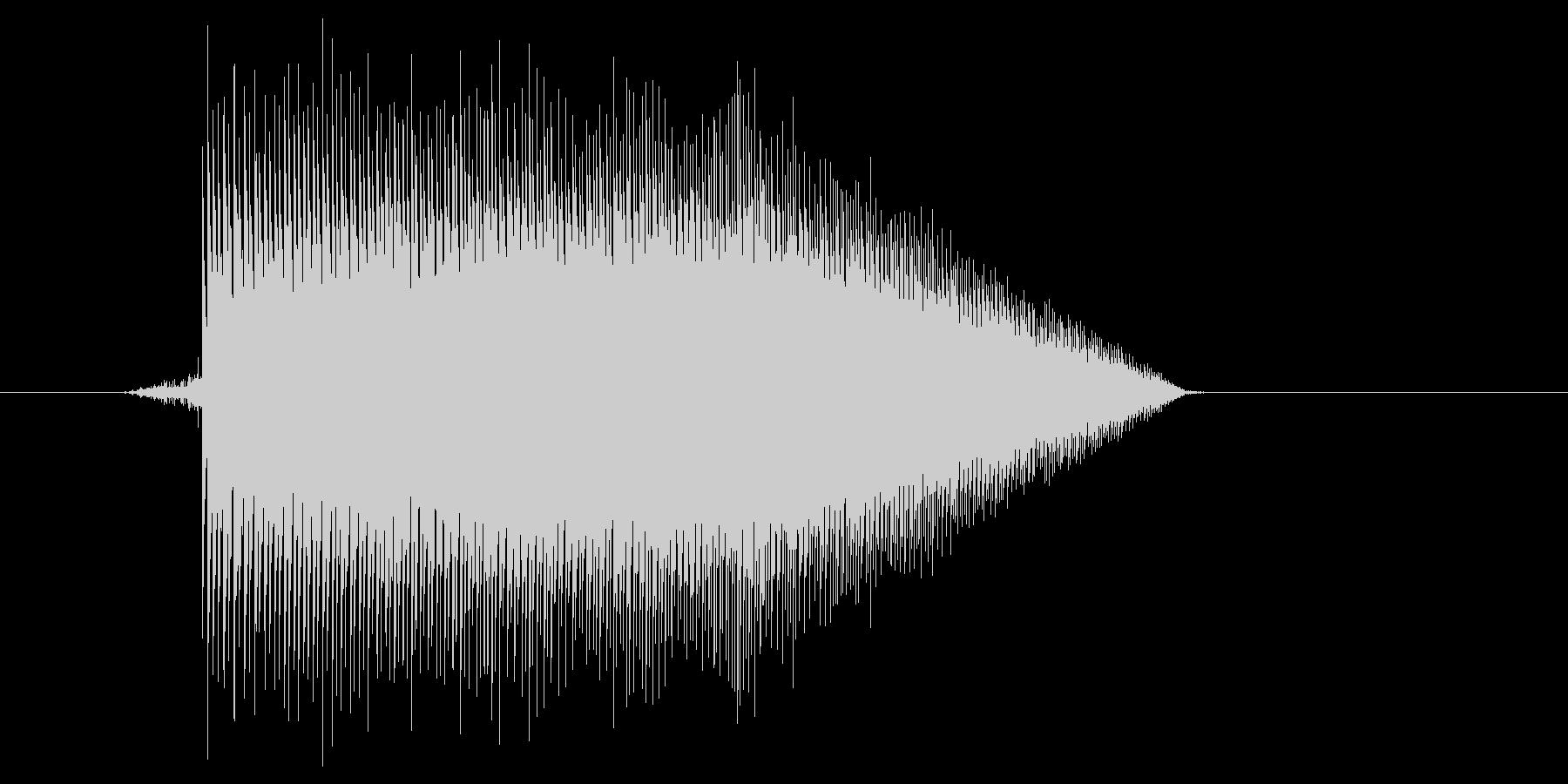 ゲーム(ファミコン風)ジャンプ音_033の未再生の波形
