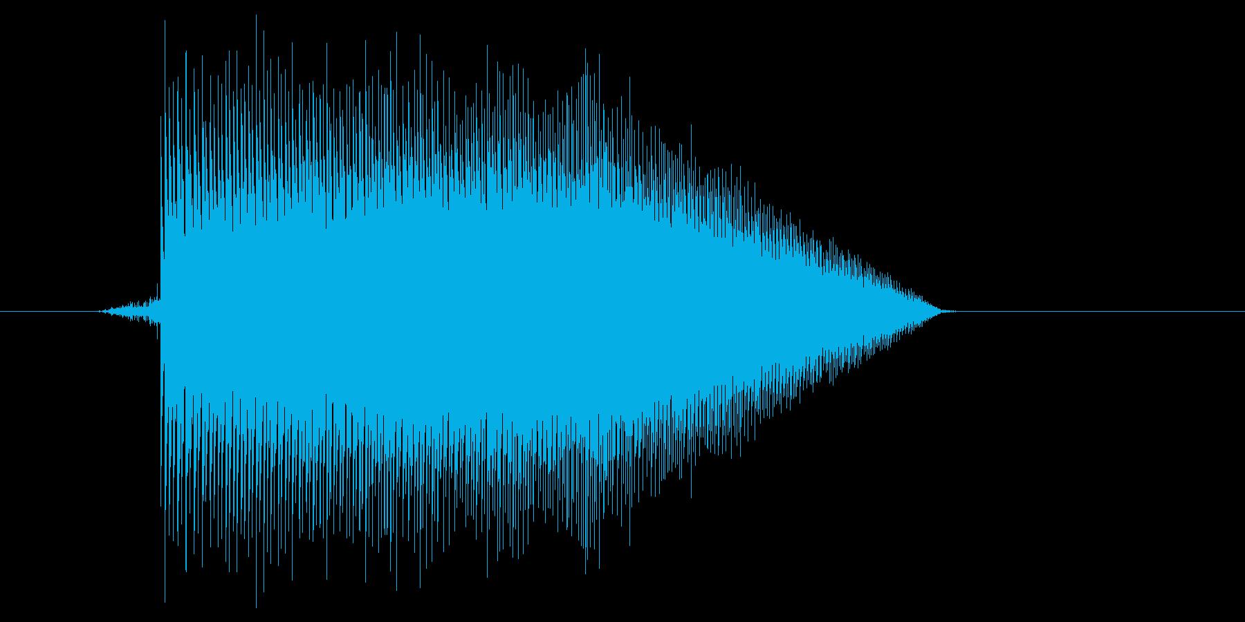 ゲーム(ファミコン風)ジャンプ音_033の再生済みの波形